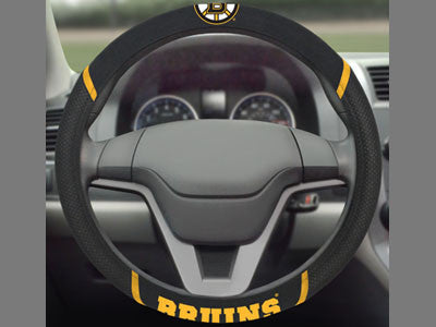 "NHL Officially licensed products Boston Bruins Steering Wheel Cover 15""x15"" Show off your team pride and transform your car?"