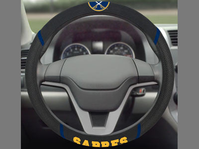 "NHL Officially licensed products Buffalo Sabres Steering Wheel Cover 15""x15"" Show off your team pride and transform your car"