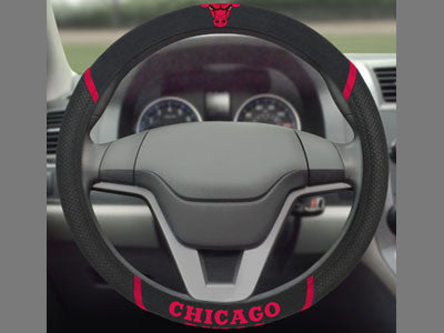 "NBA Officially licensed products Chicago Bulls Steering Wheel Cover 15""x15"" Show off your team pride and transform your car?"