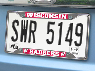 "NCAA Officially licensed University of Wisconsin License Plate Frame 6.25""x12.25"" License Plate Frames from Sports Licensing"