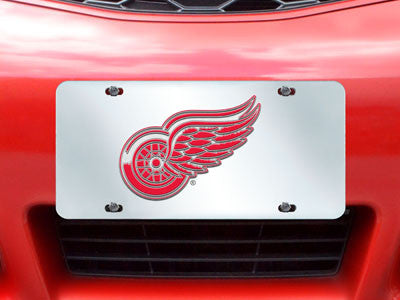 "NHL Officially licensed products Detroit Red Wings License Plate Inlaid 6""x12"" Improve the exterior of your vehicle and let"