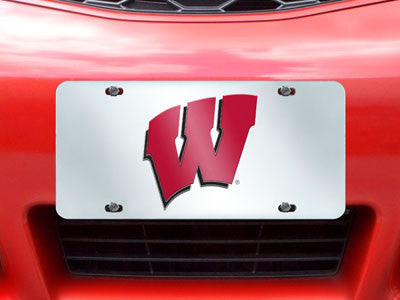 "NCAA Officially licensed University of Wisconsin License Plate-Inlaid 6""x12"" Improve the exterior of your vehicle and let ev"