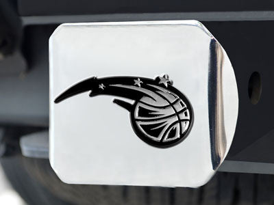 "NBA Officially licensed products Orlando Magic Chrome Hitch Cover 4 1/2""x3 3/8"" Keep your hitch clear of debris and let ever"