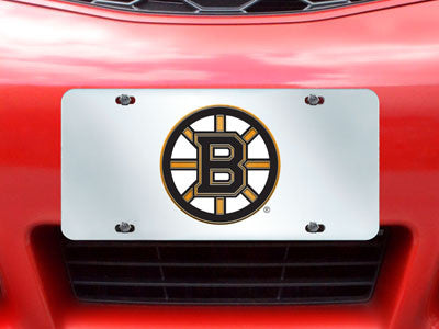 "NHL Officially licensed products Boston Bruins License Plate Inlaid 6""x12"" Improve the exterior of your vehicle and let ever"