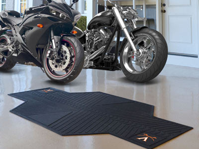 "NCAA Officially licensed University of Virginia Motorcycle Mat 82.5"" L x 42"" W Show off your team pride with Sports Licensin"