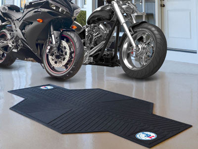 "NBA Officially licensed products Philadelphia 76ers Motorcycle Mat 82.5""x42"" Show off your team pride with Sports Licensing"