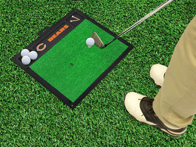 "NFL Officially licensed products Chicago Bears Golf Hitting Mat 20"" x 17"" Work on your backswing while showing off your team"