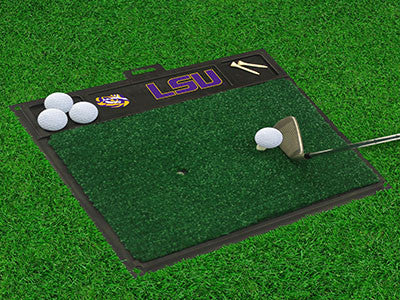 "NCAA Officially licensed Louisiana State University Golf Hitting Mat 20"" x 17"" Work on your backswing while showing off your"