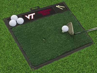 "NCAA Officially licensed Virginia Tech Golf Hitting Mat 20"" x 17"" Work on your backswing while showing off your team pride w"