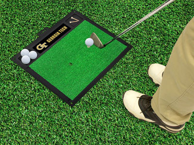 "NCAA Officially licensed Georgia Tech Golf Hitting Mat 20"" x 17"" Work on your backswing while showing off your team pride wi"