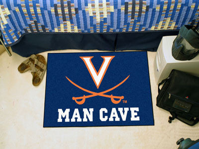 "NCAA Officially licensed University of Virginia Man Cave Starter 19""x30"" Celebrate your fandom with a Man Cave mat from Spor"