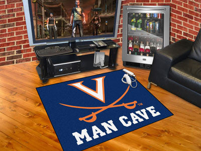 "NCAA Officially licensed University of Virginia Man Cave All-Star 33.75""x42.5"" Celebrate your fandom with a Man Cave mat fro"