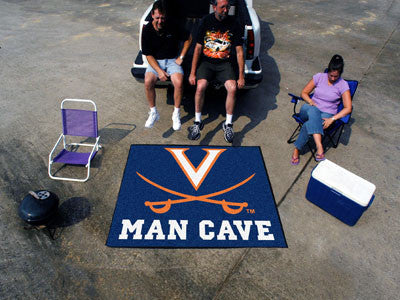 "NCAA Officially licensed University of Virginia Man Cave Tailgater 59.5""x71"" Celebrate your fandom with a Man Cave mat from"