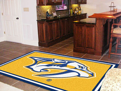NHL Officially licensed products Nashville Predators 5'x8' Rug Show off your team pride in a big way! 5'x8' ultra plush area