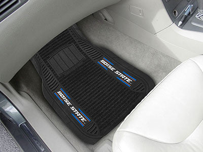 "NCAA Officially licensed Boise State University Deluxe Mat 21""x27"" Deluxe Car Mats are perfect for anyone who is serious abo"