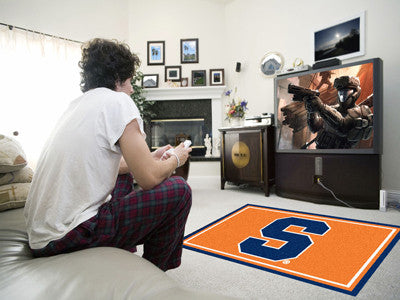 "NCAA Officially licensed Syracuse University 4x6 Rug 44""x71"" Show off your team pride in a big way! 4'x6' ultra plush area r"