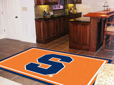 "NCAA Officially licensed Syracuse University 5x8 Rug 59.5""x88"" Show off your team pride in a big way! 5'x8' ultra plush area"