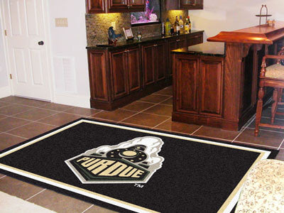 "NCAA Officially licensed Purdue University 5x8 Rug 59.5""x88"" Show off your team pride in a big way! 5'x8' ultra plush area r"