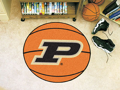 "NCAA Officially licensed Purdue University Basketball Mat 27"" diameter Protect your floor in style and show off your fandom"