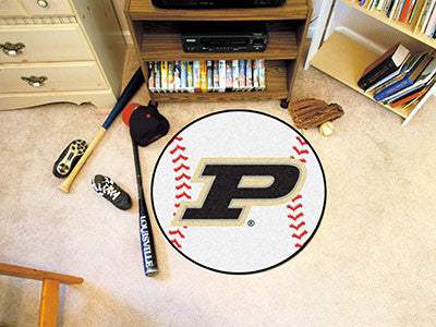 "NCAA Officially licensed Purdue University Baseball Mat 27"" diameter Protect your floor in style and show off your fandom wi"