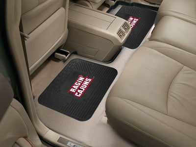 "NCAA Officially licensed University of Louisiana-Lafayette 2 Utility Mats 34.25"" x 36"" Boast your team colors with backseat"
