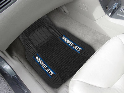 "NHL Officially licensed products Winnipeg Jets Deluxe Mat 21""x27"" Deluxe Car Mats are perfect for anyone who is serious abou"