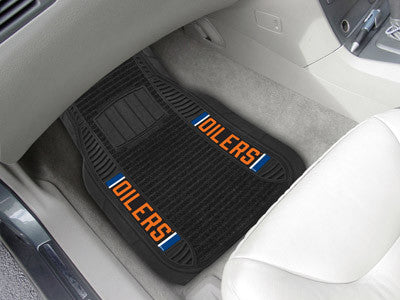 "NHL Officially licensed products Edmonton Oilers Deluxe Mat 21""x27"" Deluxe Car Mats are perfect for anyone who is serious ab"