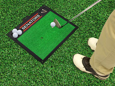 NHL Officially licensed products Ottawa Senators Golf Hitting Mat Work on your backswing while showing off your team pride w
