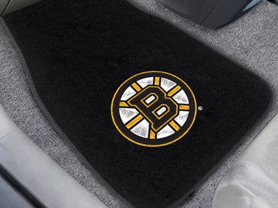 "NHL Officially licensed products Boston Bruins 2-pc Embroidered Car Mats 18""x27"" Protect the interior of your vehicle while"