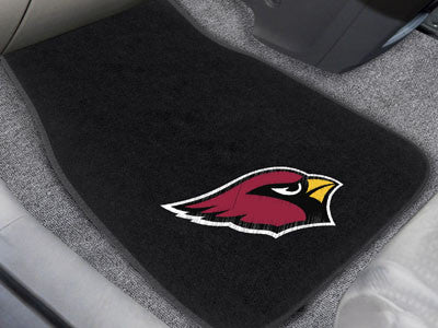 "NFL Officially licensed products Arizona Cardinals 2-pc Embroidered Car Mats 18""x27"" Protect the interior of your vehicle wh"