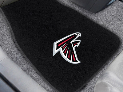 "NFL Officially licensed products Atlanta Falcons 2-pc Embroidered Car Mats 18""x27"" Protect the interior of your vehicle whil"