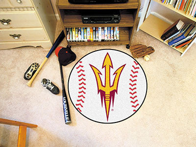 "NCAA Officially licensed Arizona State University Baseball Mat 27"" diameter Protect your floor in style and show off your fa"