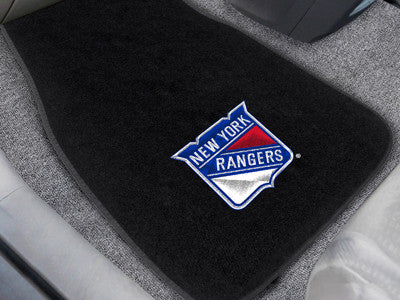 "NHL Officially licensed products New York Rangers 2-pc Embroidered Car Mats 18""x27"" Protect the interior of your vehicle whi"