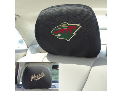 "NHL Officially licensed products Minnesota Wild Head Rest Cover 10""x13"" Show off your team pride and protect your vehicles h"
