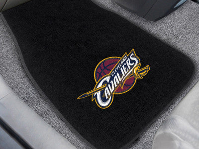 "NBA Officially licensed products Cleveland Cavaliers 2-pc Embroidered Car Mats 18""x27"" Protect the interior of your vehicle"