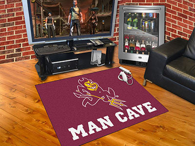 "NCAA Officially licensed Arizona State University Man Cave All-Star 33.75""x42.5"" Celebrate your fandom with a Man Cave mat f"
