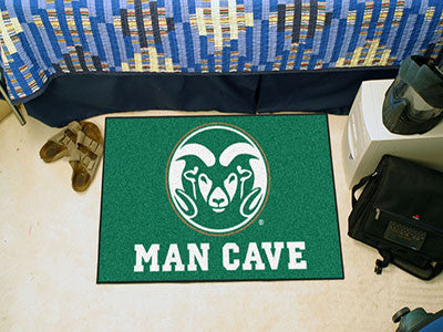 "NCAA Officially licensed Colorado State University Man Cave Starter 19""x30"" Celebrate your fandom with a Man Cave mat from S"