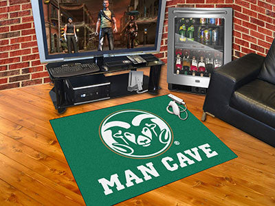 "NCAA Officially licensed Colorado State University Man Cave All-Star 33.75""x42.5"" Celebrate your fandom with a Man Cave mat"