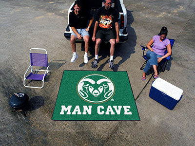 "NCAA Officially licensed Colorado State University Man Cave Tailgater 59.5""x71"" Celebrate your fandom with a Man Cave mat fr"