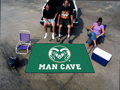 "NCAA Officially licensed Colorado State University Man Cave UltiMat 59.5""x94.5"" Celebrate your fandom with a Man Cave mat fr"