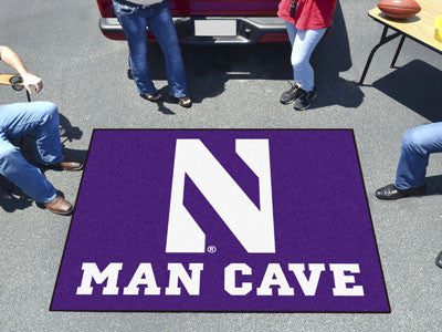 "NCAA Officially licensed Northwestern University Man Cave Tailgater 59.5""x71"" Celebrate your fandom with a Man Cave mat from"