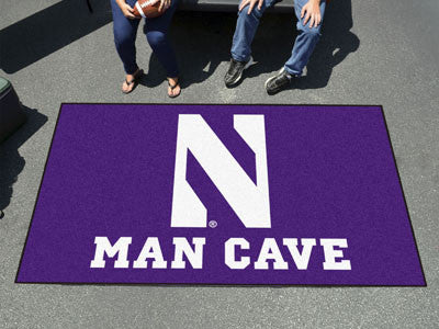 "NCAA Officially licensed Northwestern University Man Cave UltiMat 59.5""x94.5"" Celebrate your fandom with a Man Cave mat from"