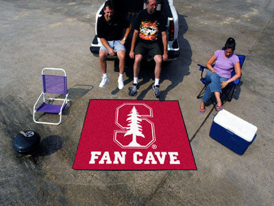 "NCAA Officially licensed Stanford University Fan Cave Tailgater 59.5""x71"" Celebrate your fandom with a Fan Cave mat from Spo"