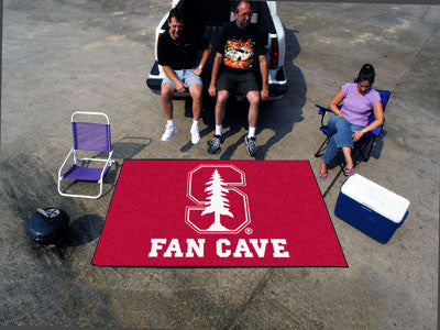 "NCAA Officially licensed Stanford University Fan Cave UltiMat 59.5""x94.5"" Celebrate your fandom with a Fan Cave mat from Spo"
