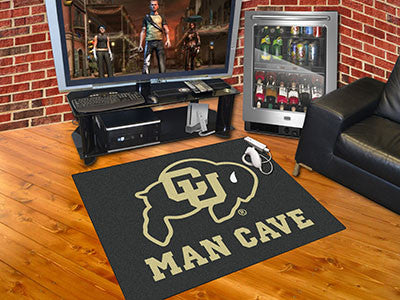 "NCAA Officially licensed University of Colorado Man Cave All-Star 33.75""x42.5"" Celebrate your fandom with a Man Cave mat fro"