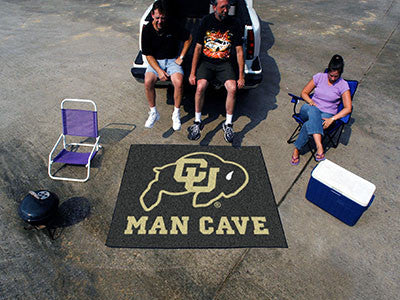 "NCAA Officially licensed University of Colorado Man Cave Tailgater 59.5""x71"" Celebrate your fandom with a Man Cave mat from"