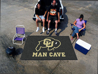 "NCAA Officially licensed University of Colorado Man Cave UltiMat 59.5""x94.5"" Celebrate your fandom with a Man Cave mat from"