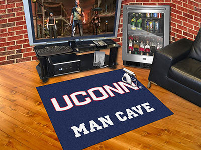 "NCAA Officially licensed University of Connecticut Man Cave All-Star 33.75""x42.5"" Celebrate your fandom with a Man Cave mat"