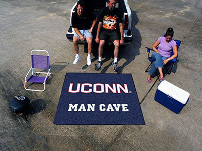 "NCAA Officially licensed University of Connecticut Man Cave Tailgater 59.5""x71"" Celebrate your fandom with a Man Cave mat fr"