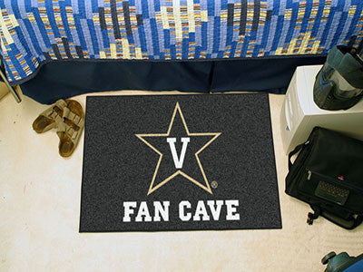 "NCAA Officially licensed Vanderbilt University Fan Cave Starter 19""x30"" Celebrate your fandom with a Fan Cave mat from Sport"